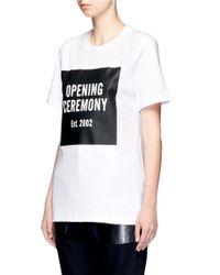Opening Ceremony Black Oc' Mirrored Logo T-shirt