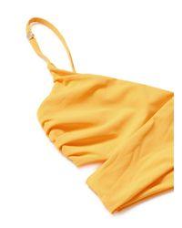 Stella McCartney - Yellow 'timeless Basics' Wraparound Bikini Top - Lyst
