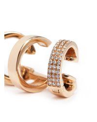 Repossi - Metallic 'berbère Module' Diamond 18k Rose Gold Pavé Ear Cuff - Lyst