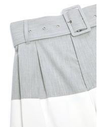The Keiji White Belted Colourblock Wide Leg Pants