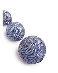 Kenneth Jay Lane | Blue Graduating Threaded Sphere Drop Earrings | Lyst