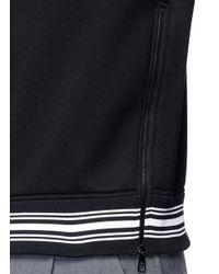 Neil Barrett Black 'do Or Do Not' Neoprene Sweatshirt for men