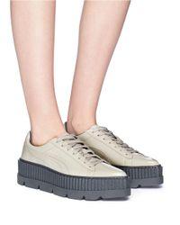 PUMA | Gray Fenty By Rihanna Pointy Toe Creeper Sneaker | Lyst