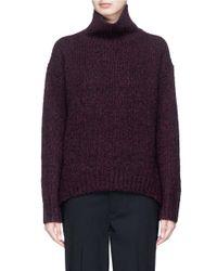 Vince Purple Turtleneck Marled Sweater