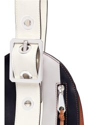 Rebecca Minkoff Multicolor 'hook Up Museum' Stripe Leather Wristlet Bag