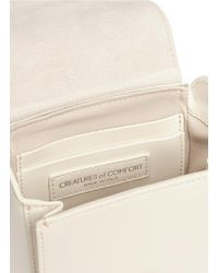 Creatures of Comfort White Calfskin Leather Camera Bag