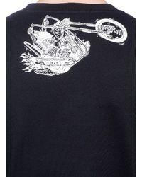 McQ Alexander McQueen Black 'pushing Up Daisies' Bunny Print Sweatshirt for men