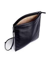 The Row Black 'medicine' Large Leather Crossbody Pouch