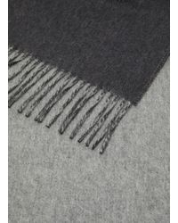 Johnstons Gray Contrast Reversible Cashmere Scarf for men