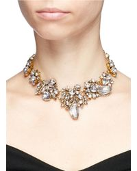 Erickson Beamon | White 'valley Of The Dolls' Swarovski Crystal Cluster Necklace | Lyst