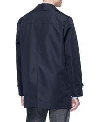 Sealup Blue Concealed Placket Raincoat for men