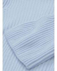 Stella McCartney Blue Bell Sleeve Cashmere-wool Rib Knit Turtleneck Sweater