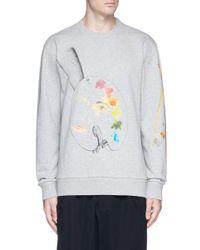 Lanvin Gray X Cédric Rivrain Palette Print Sweatshirt for men