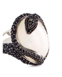John Hardy - White Opal Sapphire Spinel Silver Cobra Ring - Lyst