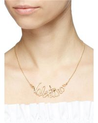 Valentino - Metallic Logo Necklace - Lyst