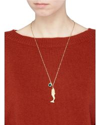 Elizabeth and James - Metallic 'mallory Mermaid' Link Chain Pendant Necklace - Lyst