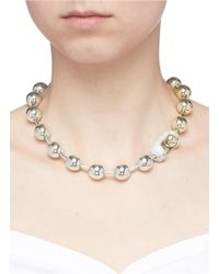 Eddie Borgo - Metallic Cubic Zirconia Pavé Ball Chain Necklace - Lyst