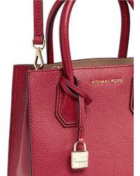 Michael Kors Red 'mercer' Medium Leather Crossbody Bag