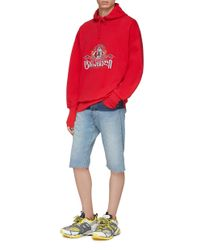 Vetements Oversized Embroidered Fleece-back Cotton-jersey Hoodie for men