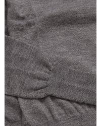 Chloé - Gray Sleeve Tie Side Split Wool Knit Top - Lyst
