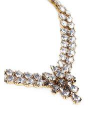 Erickson Beamon - White 'parlor Trick' 24k Gold Plated Swarovski Crystal Necklace - Lyst