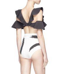 Zimmermann Multicolor 'painted Heart Flutter' Colourblock Bikini Set