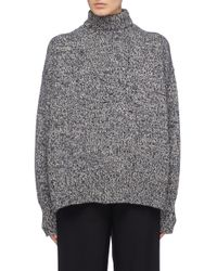 The Row Gray Shadow Melange Cashmere Sweater for men