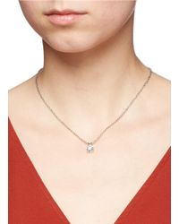 CZ by Kenneth Jay Lane - Metallic Cubic Zirconia Pendant Necklace - Lyst