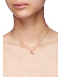 Bao Bao Wan Metallic 'little Baby Bottle' 18k Gold Diamond Pearl Necklace