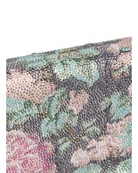 Judith Leiber Metallic 'symphony' Large Ridged Rectangle Crystal Pavé Box Clutch
