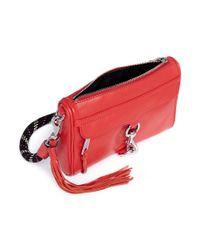 Rebecca Minkoff Red 'm.a.c.' Climbing Rope Strap Mini Leather Crossbody Bag