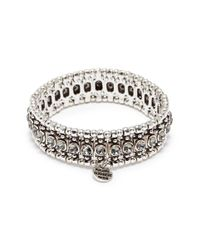 Philippe Audibert - Metallic 'roselynette' Swarovski Crystal Bead Elastic Bracelet - Lyst