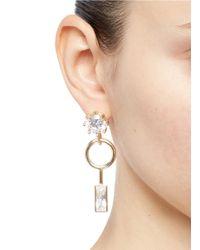 Eddie Borgo - Metallic Cubic Zirconia Geometric Drop Earrings - Lyst