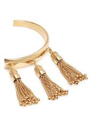 Chloé - Metallic 'lynn' Chain Tassel Brass Cuff - Lyst