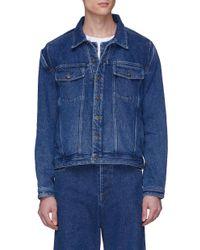 Y. Project Blue Detachable Shirt Cutout Unisex Denim Jacket for men