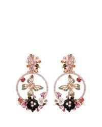Anabela Chan - Pink 'butterfly' 18k Rose Gold Wreath Earrings - Lyst