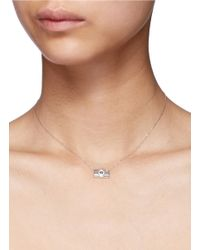 Bao Bao Wan - Metallic 'little Camera' 18k Gold Diamond Moonstone Necklace - Lyst