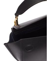 Dolce & Gabbana Black 'hortensia' Mini Leather Shoulder Bag