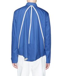 CALVIN KLEIN 205W39NYC - Blue Contrast Trim Pleated Back Shirt for Men - Lyst