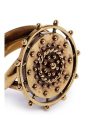 Chloé - Metallic 'coins' Twist Band Ring - Lyst