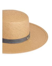 Janessa Leone Natural 'alaia' Suede Band Packable Straw Bolero Hat