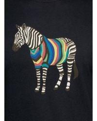 PS by Paul Smith Black Zebra Print T-shirt for men