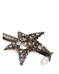 Alexander McQueen - Metallic 'surreal Obsession' Swarovski Crystal Star Hair Clip - Lyst