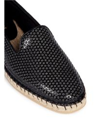 Cole Haan - Black 'rielle' Peforated Patent Espadrille Slip-ons - Lyst