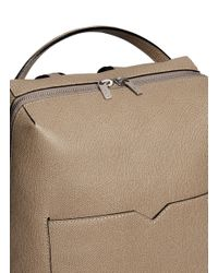 Valextra Gray 'v-line' Leather Backpack
