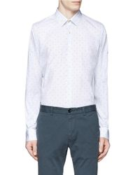 Paul Smith | White Windowpane Check Polka Dot Shirt for Men | Lyst