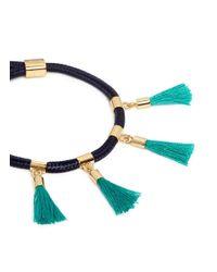 Chloé - Blue 'marin' Tassel Rope Bracelet - Lyst