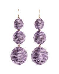 Kenneth Jay Lane | Purple Graduating Threaded Sphere Drop Earrings | Lyst