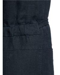 Rachel Comey - Blue 'bend' Tie Waist Linen Wide Leg Jumpsuit - Lyst