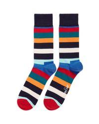Happy Socks | Multicolor Contrast Stripe Socks for Men | Lyst